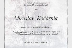 Miroslav Kočárník (1934-2018)